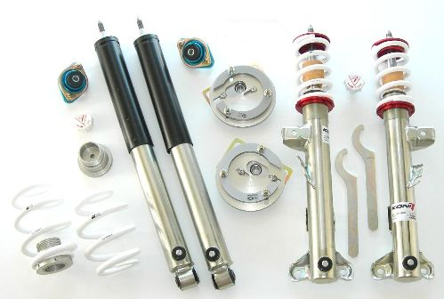 TCKR E36 Double Adjustable Coilover Kit - 1992-1999 318i, 323i, 325i, 328i, M3 coupe, sedan, convertible